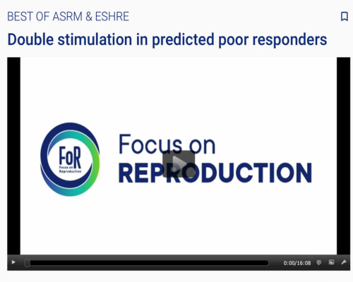 GeneraLife IVF at 'The Best of ASRM and ESHRE': focus on double stimulation