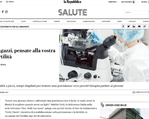 """""""Guys, think about your fertility"""", the advices from GeneraLife experts on 'Repubblica'."""